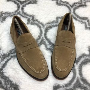 Stacy Adams Tan Suede Loafers 9 M